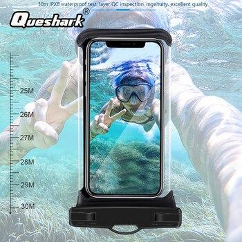 Pantalla táctil impermeable de 2020, bolsa de teléfono para natación y buceo a la deriva, carcasa de teléfono móvil de 6,9 pulgadas con soporte para bolsa