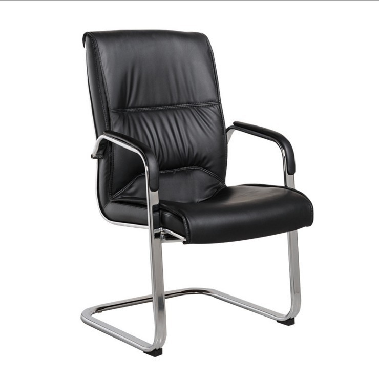 Chair Back Staff Computer Chair Conference Office Chair Bowed Swivel Chair Swivel Chair Fixed Armrest Mahjong Leather Chair