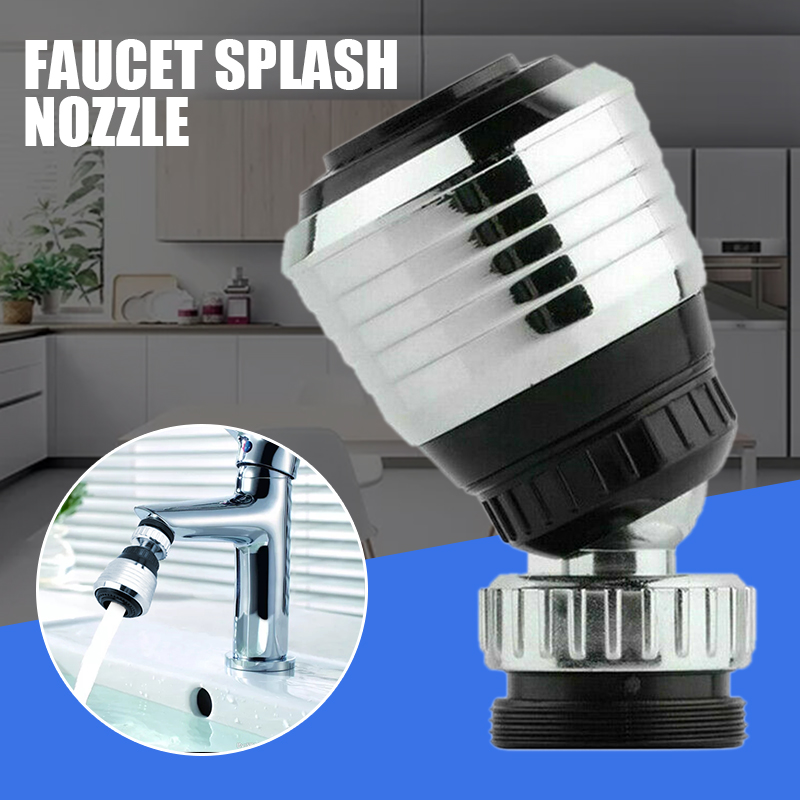 Universal ABS Chrome 360 Degree Rotate Spray Aerator For Kitchen Bathroom Sink Faucets Nozzle Sprayer Head Water Tap Attachment