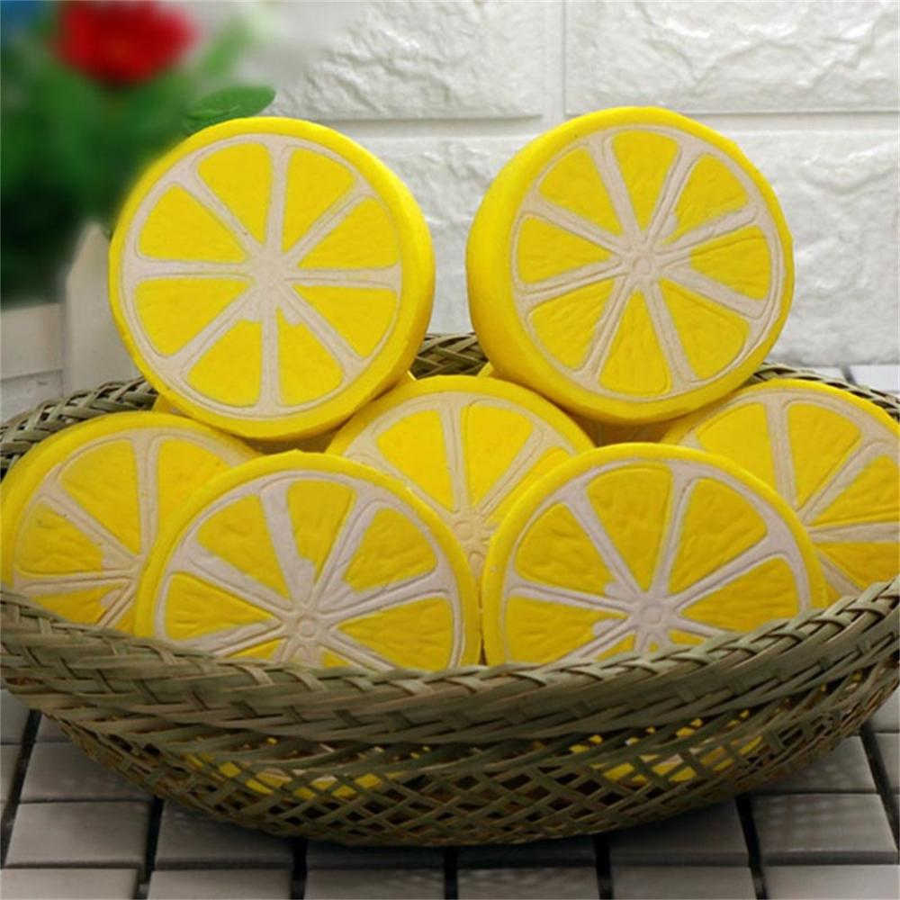 Diameter 6cm Squishy Half Lemon Fruit Scented Super Slow Rising Cream Toy