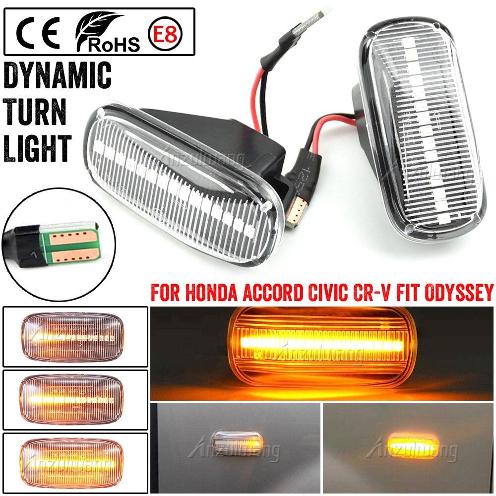 Led dinámica indicador lateral de señal de vuelta de luz lámpara para Honda Accord Coupe cívica EG3 S2000 AP1 Integra Tipo R NSX NA1 lado Repe