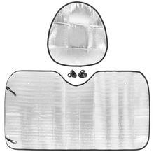 Visor-Cover Sunshade Car-Windshield Aluminum-Film Front-Window X-Autohaux Universal