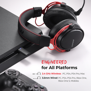 Image 5 - Mpow BH415 Игровая гарнитура 2,4 ГГц Беспроводные наушники 3,5 мм Проводные наушники с микрофоном с шумоподавлением Для ПК Gamer Для PS4 Xbox One