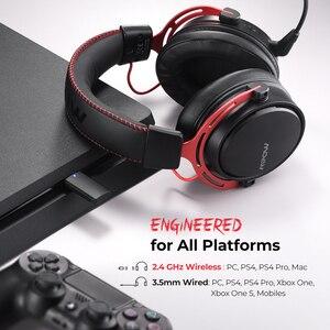 Image 5 - Mpow BH415 משחקי אוזניות 2.4GHz אלחוטי אוזניות 3.5mm Wired אוזניות עם רעש ביטול מיקרופון למחשב גיימר עבור PS4 Xbox אחד