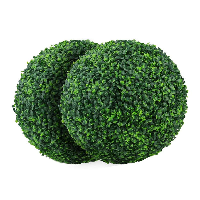 2 PCS 15 7 Inch Artificial Plants Faux Boxwood Decor Balls Topiary Plastic Ball for Backyard Wedding Home Decoration Accessories