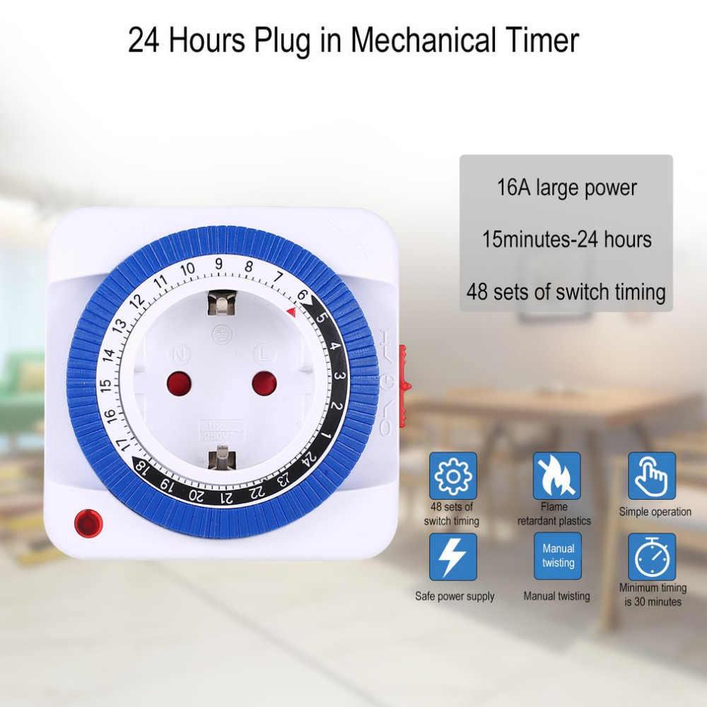 24 heures brancher mécanique mis à la terre Programmable minuterie interrupteur intelligent compte à rebours prise intérieure automatique mise hors tension 230V