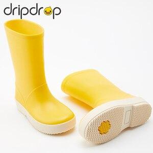 Image 1 - DRIPDROP طفل أحذية مطر للأطفال الفتيات الفتيان الكلاسيكية الأحذية المدرسية Rainсoat المطر ملابس ضد المطر طفل معطف واق من المطر