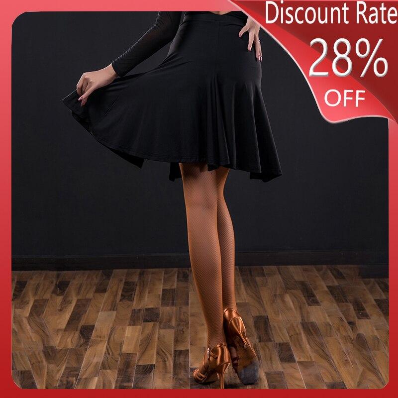 New Latin Dance Skirt Female Adult Professional Split Skirt Latin Dance Competition Dress Practice Performance Clothing DQS3360