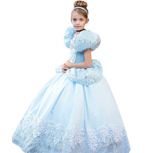 Christmas Girls Clothes Dresses Girls Snow White Princess Cosplay Halloween Party Costume,Baby Girls Princess Dresses 3-10 years(China)