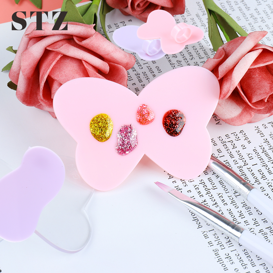 Mini Nail Art Paint Palettes Plastic Finger Ring Plate UV Gel Polish Painting Drawing Pigment Holder Makeup Manicure Tools #1593