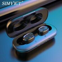 سماعة أذن بلوتوث 5.0 من simvللنساء W1S TWS سماعات أذن لاسلكية للركض سماعة أذن ستيريو HIFI سماعة رأس مزودة بميكروفون للهاتف