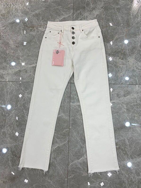 2020 Spring Summer Jeans Female High Runway Denim Pants Korean Fashion Pencil Pants White Runway Buttons Denim Elastic Trousers