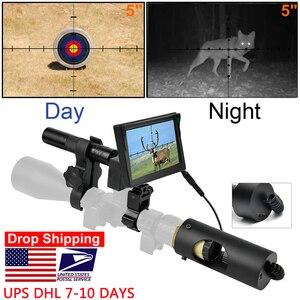 850nm Infrared LED IR Night Vision Riflescope Hunting Scopes Optics Sight Waterproof Hunting Camera Hunting Wildlife Night Visi(China)