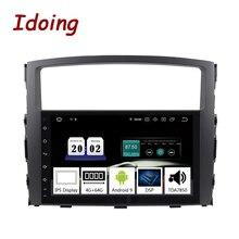 "Idoing 9 ""2 DIN รถ PX5 4G + 64G OCTA Core Android 9.0 วิทยุเครื่องเล่นวิดีโอมัลติมีเดียสำหรับ Mitsubishi Pajero 4 V80 V90 V97 2DIN"