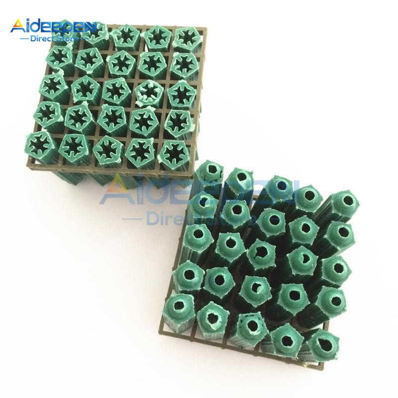 20 unids/lote plástico verde tornillo de fijación herramienta M6 tornillo de almacenamiento de Herramienta 8mm x 27mm tornillo de fijación para gabinete de Rack