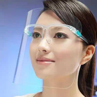 Big Face Shield Screen Mask Safe Virus Protection Removable Windproof Anti-dust Anti-droplet Spittle Full Face Cover Bucket Mask