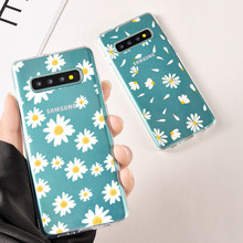 цена на Case For Samsung S9 S9 PLUS S8 S8 Plus Note 8 S7 S Flower Colorful Daisy Rose Ultrathin Soft TPU Case  Transparent Simple Cover