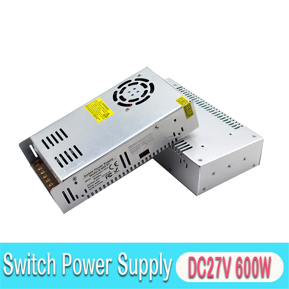 DC <font><b>27V</b></font> PowerSupply 22.2A 600W Power <font><b>Adapter</b></font> Transformer AC To DC27V SMPS for Lighting Equipment CCTV Camera Monitor image