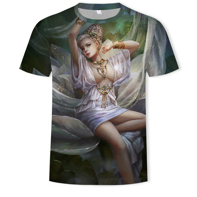 <font><b>Men</b></font> <font><b>3D</b></font> <font><b>Sexy</b></font> Naked Beauty Girl <font><b>Men</b></font> Mujer Casual Top Tees Tattoo <font><b>Sexy</b></font> Girls <font><b>3d</b></font> Printed Hip Hop <font><b>T</b></font> <font><b>Shirts</b></font> image
