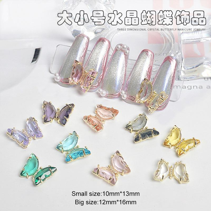 10 pcs cristal borboleta liga 3d arte 04