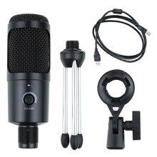 Micro Microphone à condensateur USB Studio pour ordinateur micro fono pc Kits de Microphone karaoké avec support pour lenregistrement de jeux Youtube