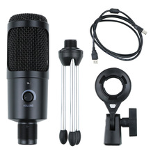 micro USB Condenser Microphone Studio for Computer microfono pc Karaoke Microphone Kits with Stand for Youtube Game Recording