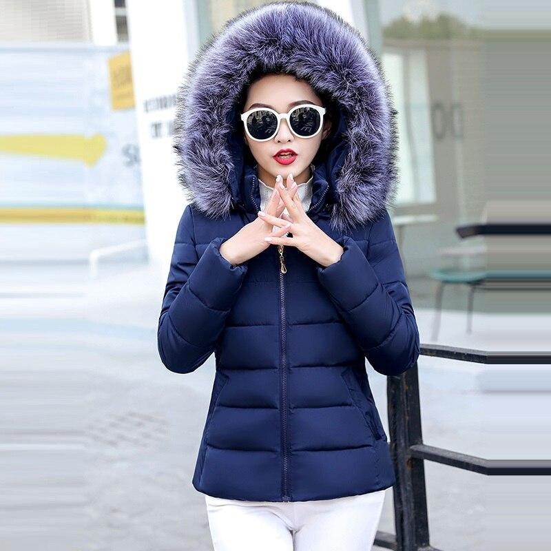 Fashion Winter Jacket Women Warm Coat Short Female Jacket Plus Size 5XL Ladies Parka Winter Coat Women Fur Collar Hooded Outwear