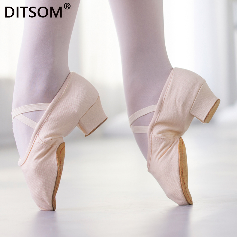 Quality Dancing Shoes For Women Middle Heel Leather Girls Ballet Jazz Dance Shoes Belly Yoga Latin Dance Shoes Teachers's Shoes
