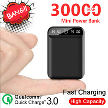 Power Bank 30000mAh Mini Portable Mobile Charger with Dual USB Ports Outdoor Travel External Battery for Xiaomi Samsung Iphone