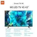 Xiaomi TV 4S 4K HDR Smart TV Xiaomi TV Smart TV de 43 pulgadas 2 + 8 GB televisor mi tv 3840 x 2160 HD 2.4G / 5.8G 5G WIFI Bluetooth 4.2 Android 9.0 Versión internacional ES