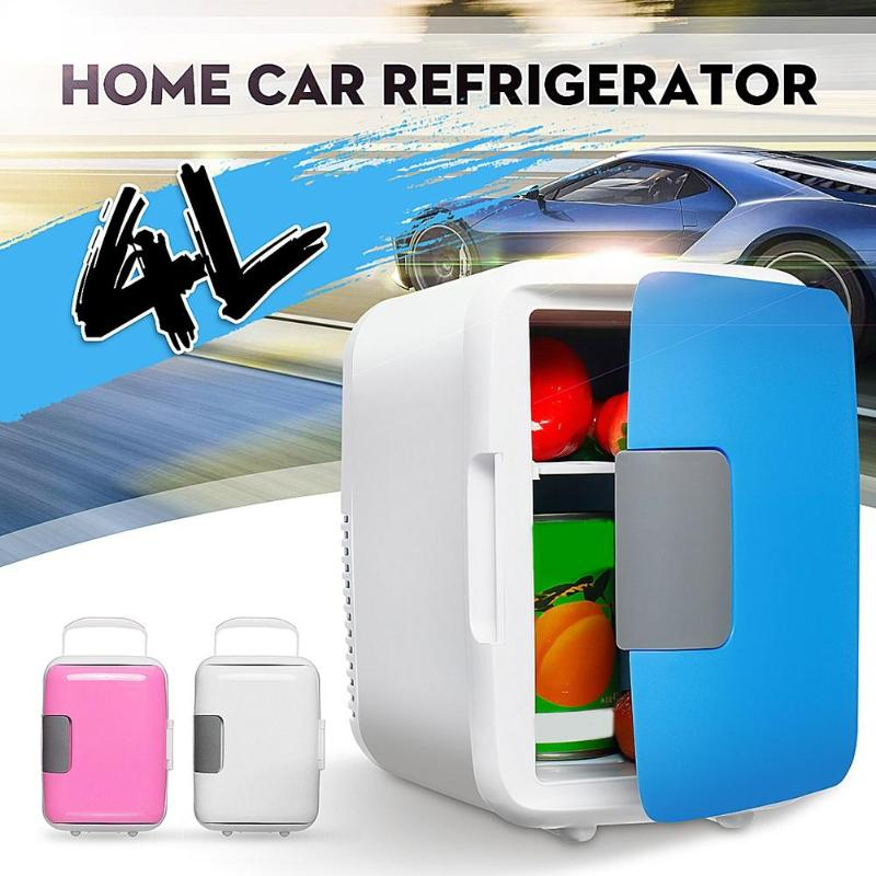 Cooler-Car Freezer Refrigerators Fridge Heating-Box Cooling Beer 4L Dual-Use Ultra-Quiet title=