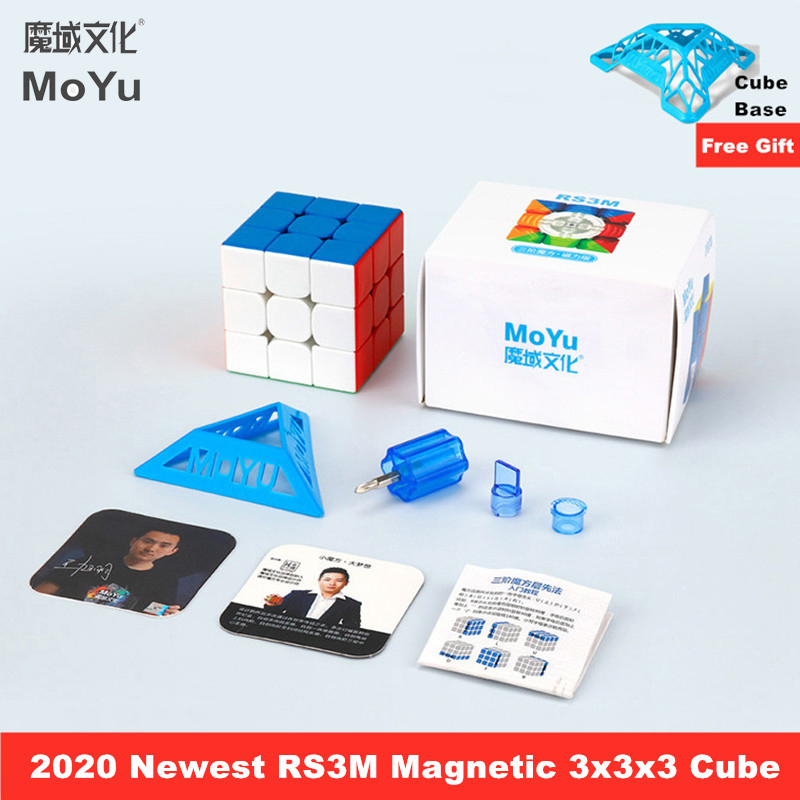 Puzzle Cube Magnet 3x3 Cubo 3x3x3-Speed Moyu RS3M MF Newest