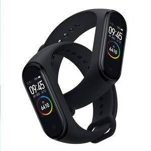 Image 4 - Xiaomi Mi Band 4 yeni spor Miband 4 akıllı bilezik kalp hızı spor izci 135mAh renk ekran su geçirmez Bluetooth 5.0