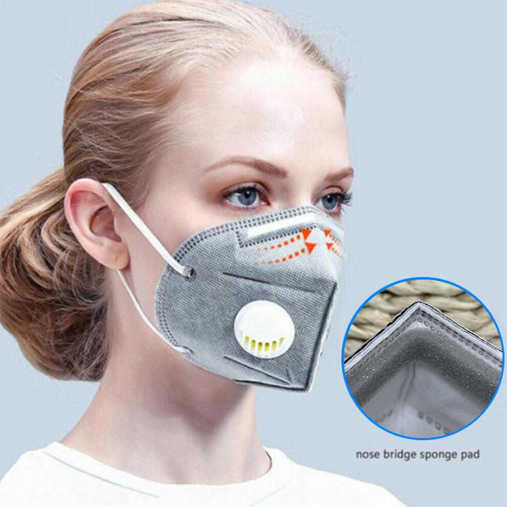 Mask Anti PM2.5 Non-woven Anti Haze Anti-dust Mask Activated Carbon Filter Respirator Mouth-muffle With Valve