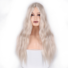XINRAN длинные коричневые Серебристые белые синтетические парики для женщин термостойкие косплей волосы розовый блонд парик