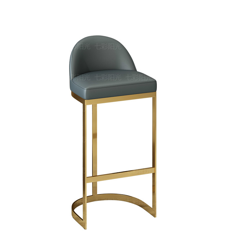 High Chair Bar Stool High Stool Nordic Modern Minimalist Bar Front Desk Chair Golden Back Bar Stool Ins