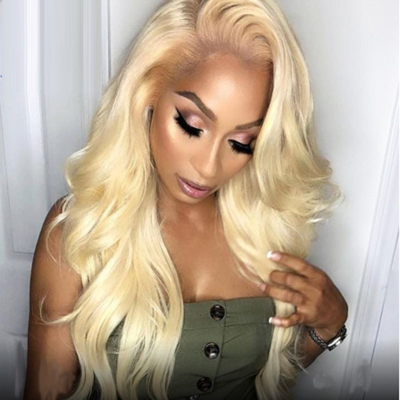 Blonde 613 13×6 Lace Front Human Hair Wigs For Black Women Brazilian Pre Plucked Body Wave Short Long Afro Colored Remy Hair Wig