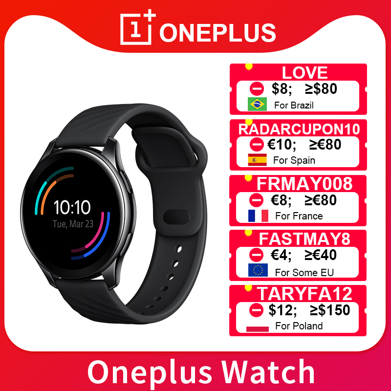 Новый OnePlus часы 4 Гб Смарт Everywear до 14 дней 1,39 дюймов AMOLED 402 мА/ч, BT5.0 IP68 Android 6,0 для OnePlus 9 9Pro 8 8T