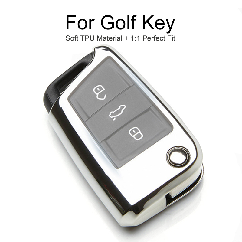 TPU Protection Car Key Cover Case For <font><b>VW</b></font> <font><b>Golf</b></font> 4 <font><b>5</b></font> 6 7 <font><b>GTI</b></font> MK7 MK6 MK5 Passat B5 B6 B7 B5.<font><b>5</b></font> CC T5 Polo Key Chain Ring <font><b>Accessories</b></font> image