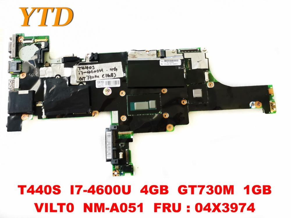 Original for Lenovo T440S Laptop motherboard T440S <font><b>I7</b></font>-<font><b>4600U</b></font> 4GB GT730M 1GB VILT0 NM-A051 FRU 04X3974 tested good free image