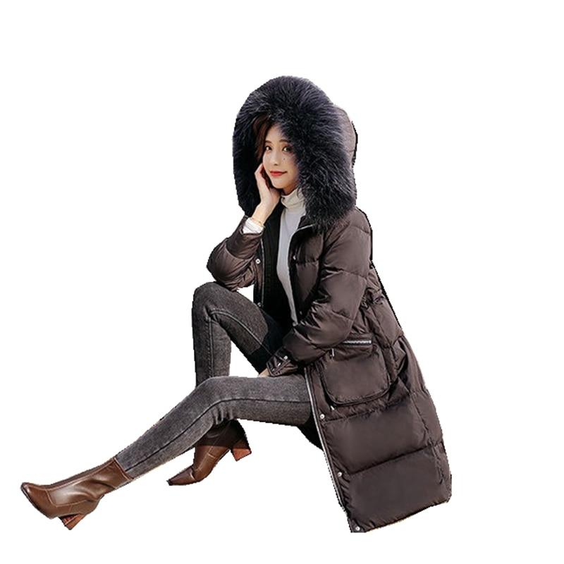 Luxury Winter Women Parkas   Down     Coat   Jacket 80% Duck   Down   Raccoon Fur Hoody Lady Winter Warm Outerwear   Coats   LF9137