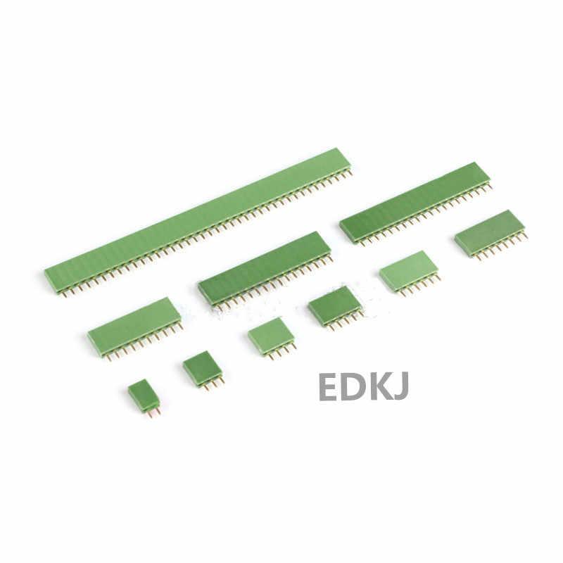10PCS 2.54mm1x 2P 3 4 6 8 10 16 40P 1 pin Single Row Female PCB Board Pin Header Connector Strip Pinheader  Colourful socket