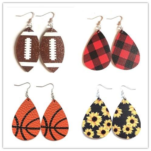 Hot Fashion Leopard Print Drop Earrings For Women Vintage Water Drop Leather Dangle Earring Christmas GiftsMulticolor Jewelry