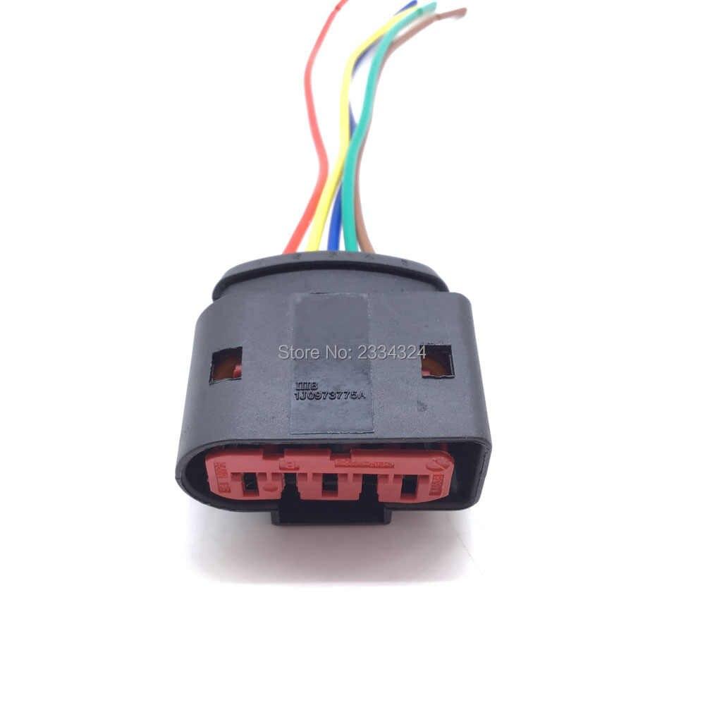 جديد PBT MAF حسّاس كتلة تدفق الهواء 5 دبوس موصل التوصيل 1J0973775A 1J0 973 775A ل VW Golf 1999 2000 2001
