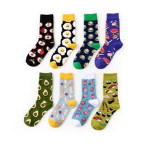 1 par de caliente aguacate marea calcetines de algodón de los hombres y las mujeres bolsa para calcetines con huevos europa y los estados unidos popular calcetines