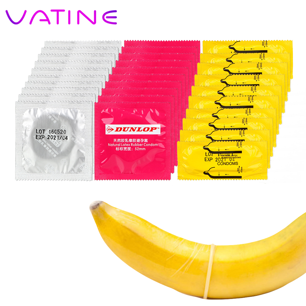 VATINE 10 Pieces Random Package Ultra Thin Sensation Natural Latex Penis Cock Sleeve Large Oil Contraception Lubricated Condoms
