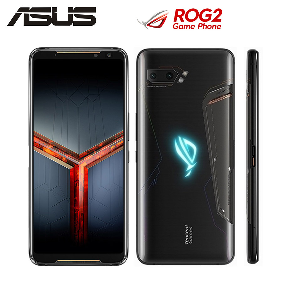 2019New Asus ROG Phone II ZS660KL Mobile Phone 12GB 512GB Snapdragon855+ 6.59