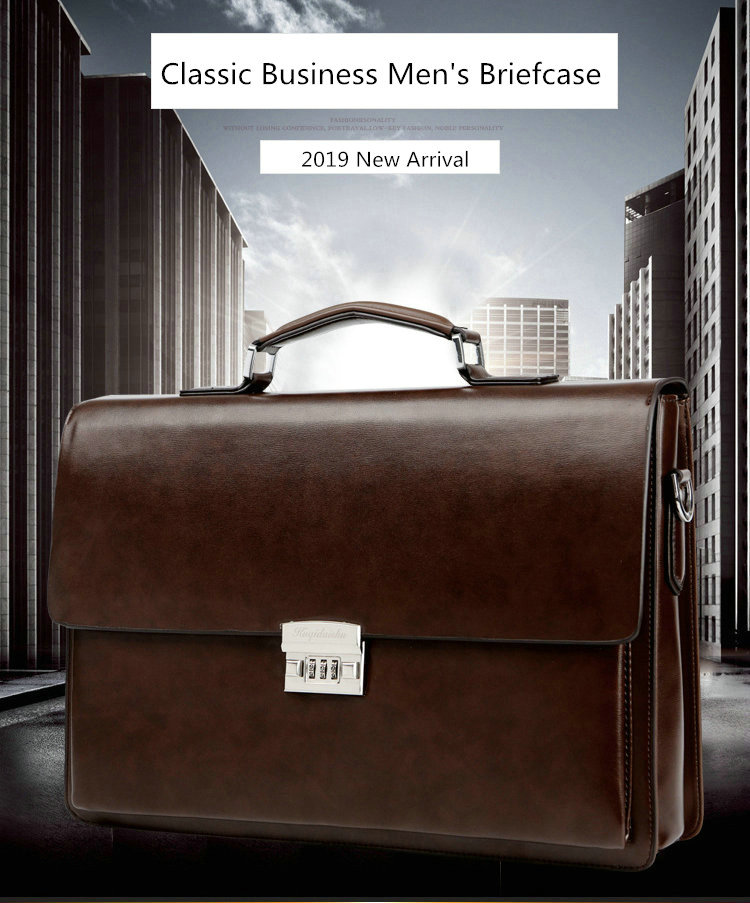 H3ccf75cbe3574d1aac5a77fafd254dd5U 2019 Business Man Bag Theftproof Lock Cowhide Leather Briefcase For Man Solid Bank OL Mens Briefcase Bag Dress Man Handbag
