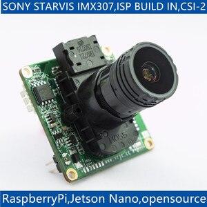 Звездный светильник ISP, светильник для Raspberry Pi 4/3B +/3 и Jetson Nano xavernx, IMX307 MIPI, 2 МП, светодиодный модуль камеры