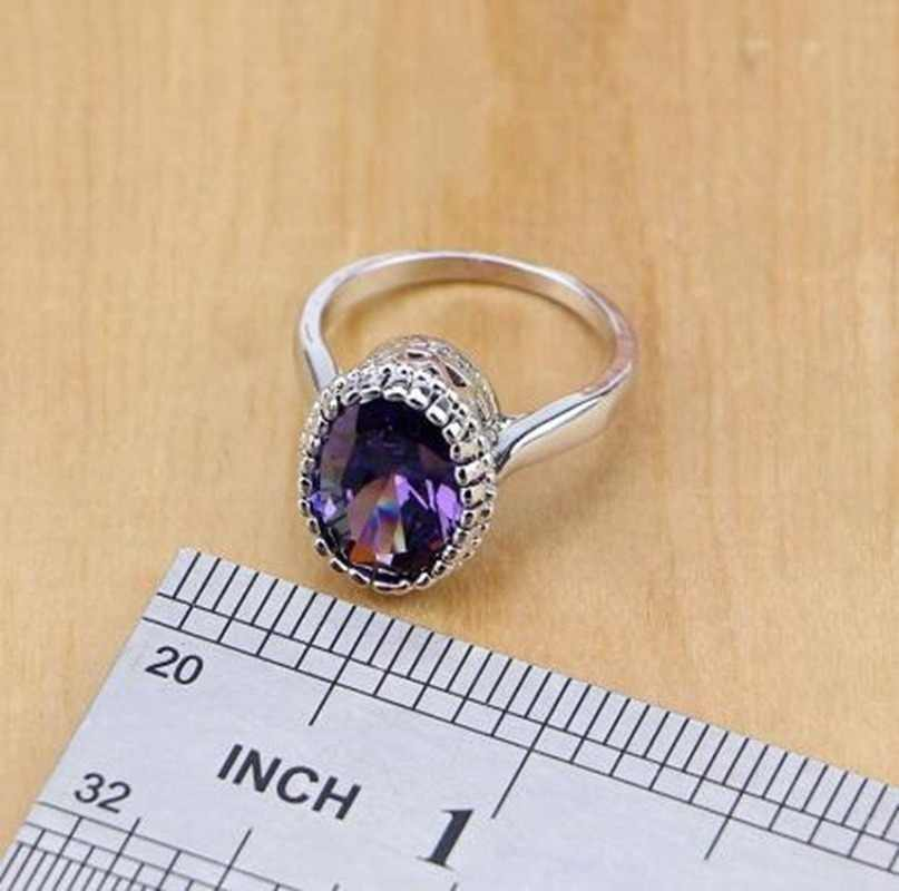Модные и изысканные блестящие фиолетовые Кристальные украшения наборы для женщин Роскошные обручальные свадебные украшения